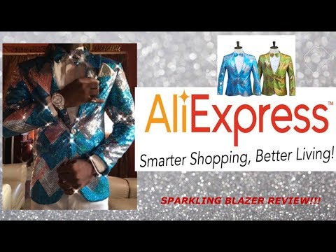 "ALIEXPRESS MEN'S SPARKLING SEQUENCE BLAZER REVIEW!!! ""GREAT FOR PROM"""