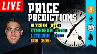 Price Predictions: Bitcoin (BTC), Ethereum (ETH), Litecoin (LTC), & EOS!
