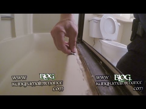 How To Remove Really Bad Tub Shower Door Enclosure Caulking Repair Maintenance Video