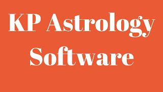 True Astrology Software - KP Astrology software