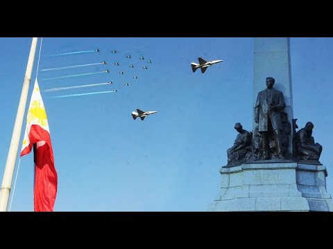 Philippine Air Force Honored Dr. Jose Rizal with a Flyby | National Anthem | Rizal Day 2015