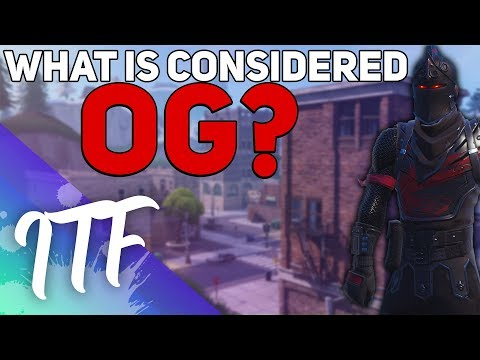 What Is Actually OG? (Fortnite Battle Royale)