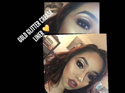 GOLD GLITTER CREASE LINER / SABY