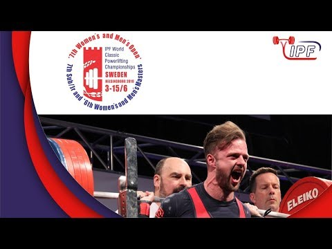 Men Jr, 120-120+ kg - World Classic Powerlifting Championships 2019