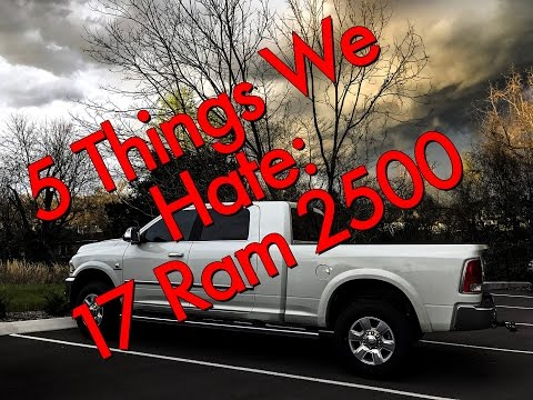2017 Ram 2500 Megacab Laramie Longhorn Cummins- 5 things we hate