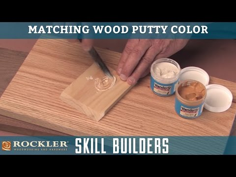 Matching Wood Putty Color | Rockler Skill Builders - YouTube