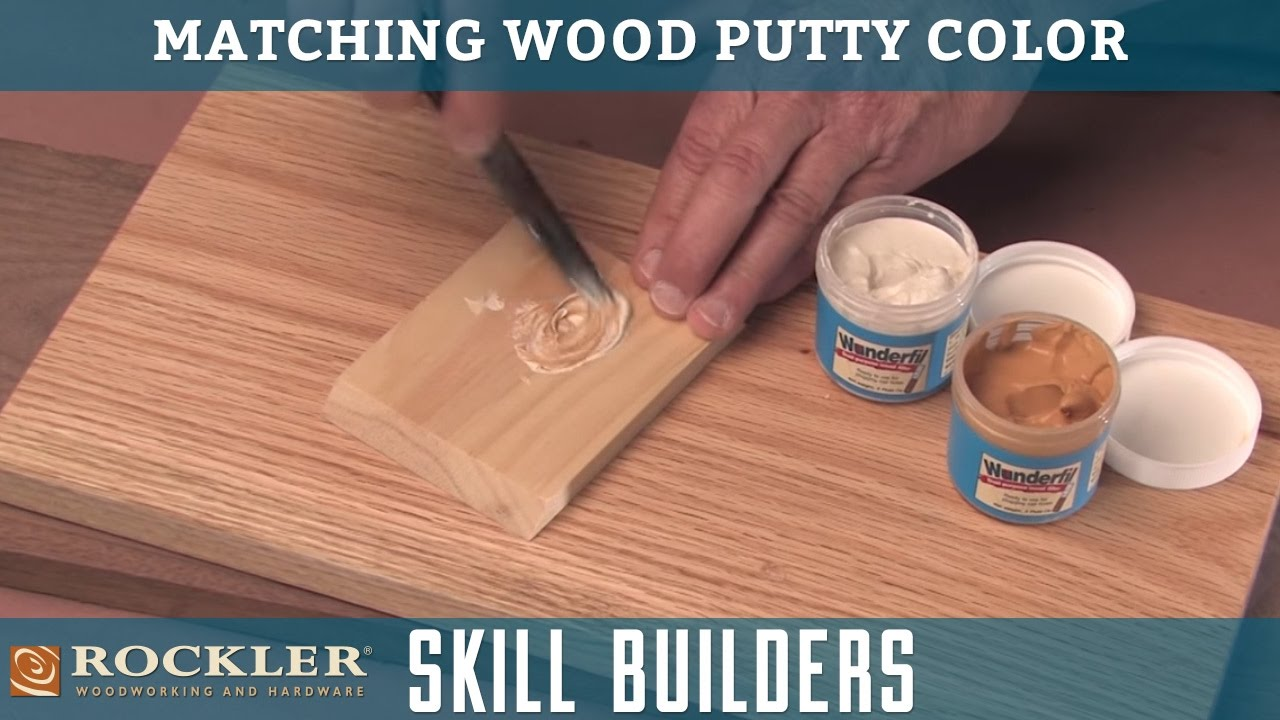 Matching Wood Putty Color Rockler Skill Builders