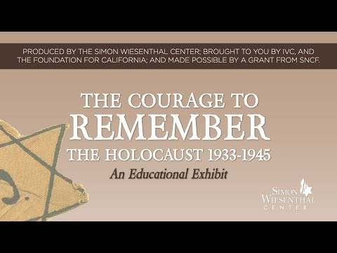 The Courage to Remember exhibit at Irvine Valley College