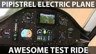 Test ride in Pipistrel electric plane