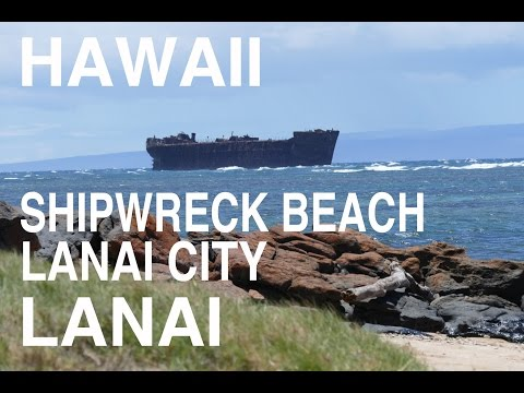 HAWAII Lanai City - Shipwreck Beach LANAI MAUI ラナイ島 ラナイシティ-シップレックビーチ DJI Osmo