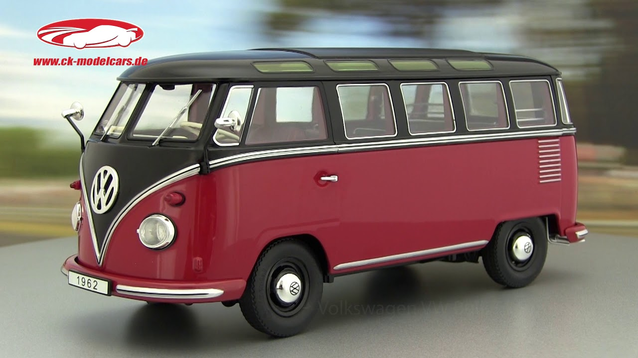 ck modelcars video volkswagen vw bulli t1 samba baujahr 1962 rot schwarz kk scale youtube. Black Bedroom Furniture Sets. Home Design Ideas