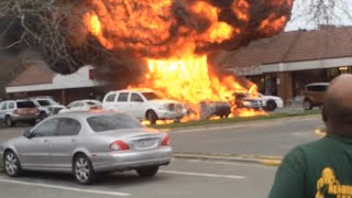 Car Explosion - Long Island Parking Lot - Raw Footage of Automobile Fire and Explosion - Bed Bugs