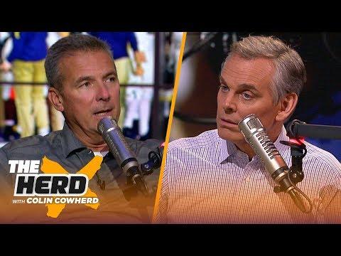 Urban Meyer on Michigan's struggles, USC, LSU's offense, Alabama's schedule & more | CFB | THE HERD