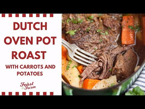 Dutch Oven Pot Roast Beef With Carrots And Potatoes