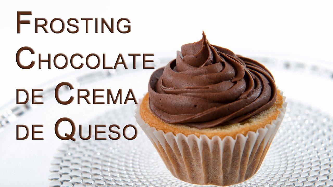 Frosting de Chocolate de Queso de Crema Tipo Filadefia