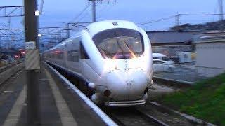 【ソニック高速通過】JR日豊本線 小波瀬西工大前駅を特急が通過【885系】