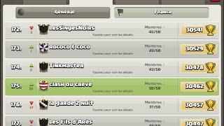 On entre dans le top 200 fr + gameplays haut level : clash of clans