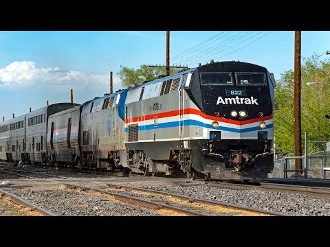 4K - Amtrak, Rail Runner, & BNSF Freight Action in Albuquerque ft. AMTK 822 and Siemens Chargers!