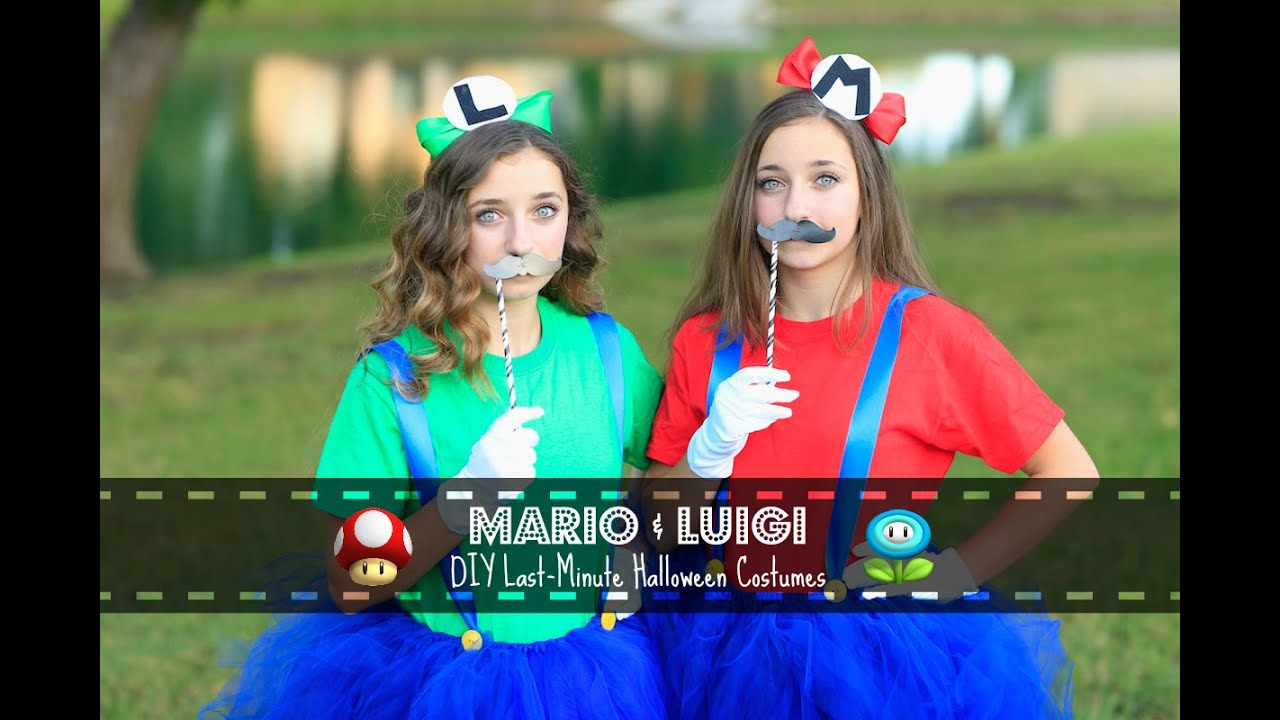 sc 1 st  YouTube & Mario u0026 Luigi | Last-Minute DIY Halloween Costumes - YouTube