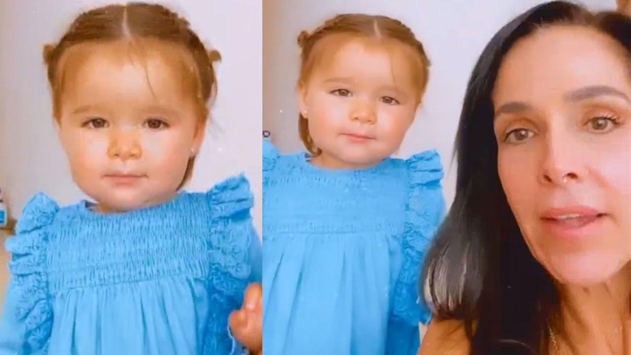 La hija de Brandon Peniche, Alessia manda saludos y canta en compañía de su abuela Sharis Cid