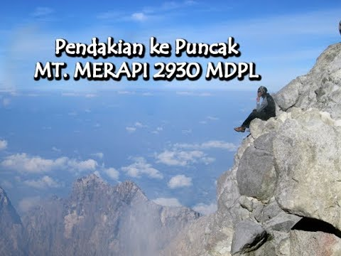 "Pendakian puncak Mt. merapi - Indonesia. "" climb to the top of the most active volcano ""#PinikYukk!!"
