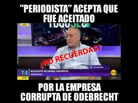 Augusto Álvarez Rodrich acepta que fue aceitado por Odebrech