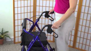 All about the four wheeled walker (rollator)