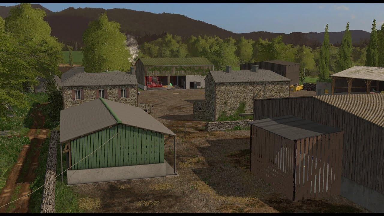 fr pc farming simulator 17 map un petit coin de campagne youtube. Black Bedroom Furniture Sets. Home Design Ideas