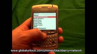 Blackberry Unlock Code - Any GSM Model Inc Curve or Bold Unlock Blackberry QUICK AND EASY!!!