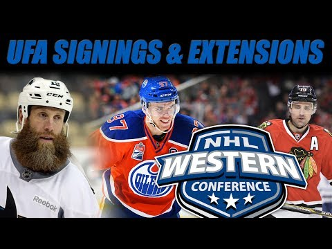 Reviewing UFA Signings & Extensions (WEST)