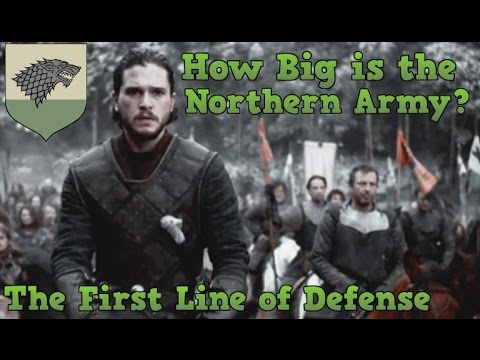 Game Of Thrones | How Big Is The Northern Army | House Stark