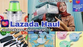 LAZADA HAUL PERLENGKAPAN DAPUR MURAH #part2 || LAZADA BIRTHDAY SALE 27 - 31 MARET - Annisa Martasari