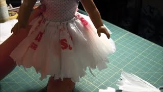 How to Make a No Sew Doll Tutu for American Girl Doll (Doll Skirt)