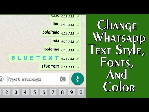 WhatsApp Tricks : How to Type in Blue Color In Whatsapp. Whatsapp All Typing Tricks 2017