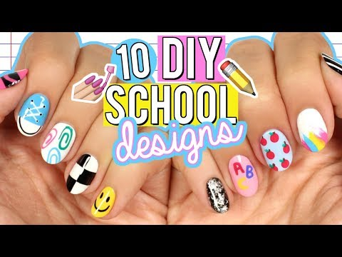 Diy Back To School Nail Art Designs