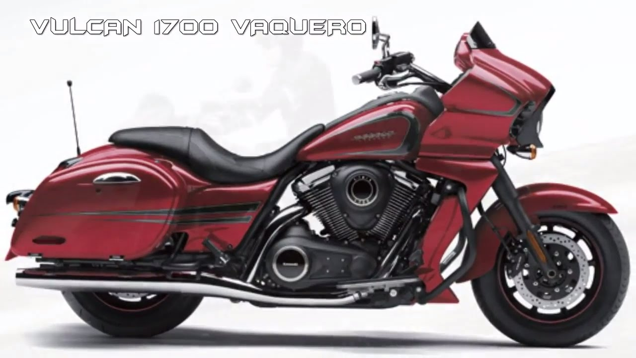 2017 Kawasaki Vulcan 1700 Vaquero Sporty Flowing Design Bagger Loaded With Top End Tools