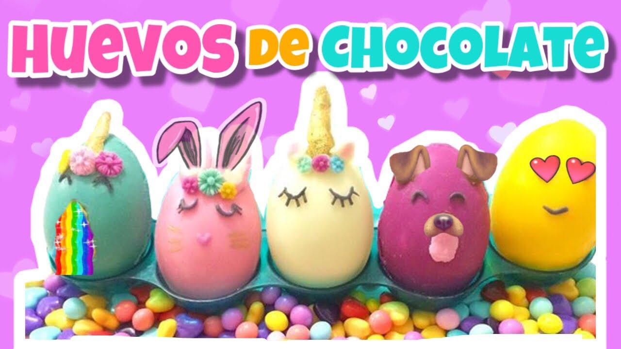 Huevos de chocolate de unicornio huevos de pascua - Huevos decorados de pascua ...