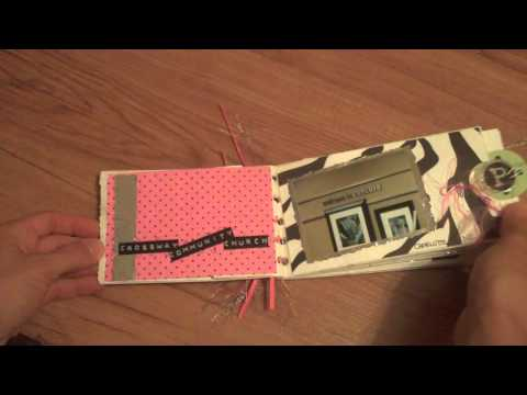 Scrapbook Tutorial  using aluminum foil on your layouts and mini albums  Bling!