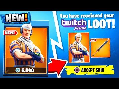 Fortnite Twitch Prime Pack 3 Skins...