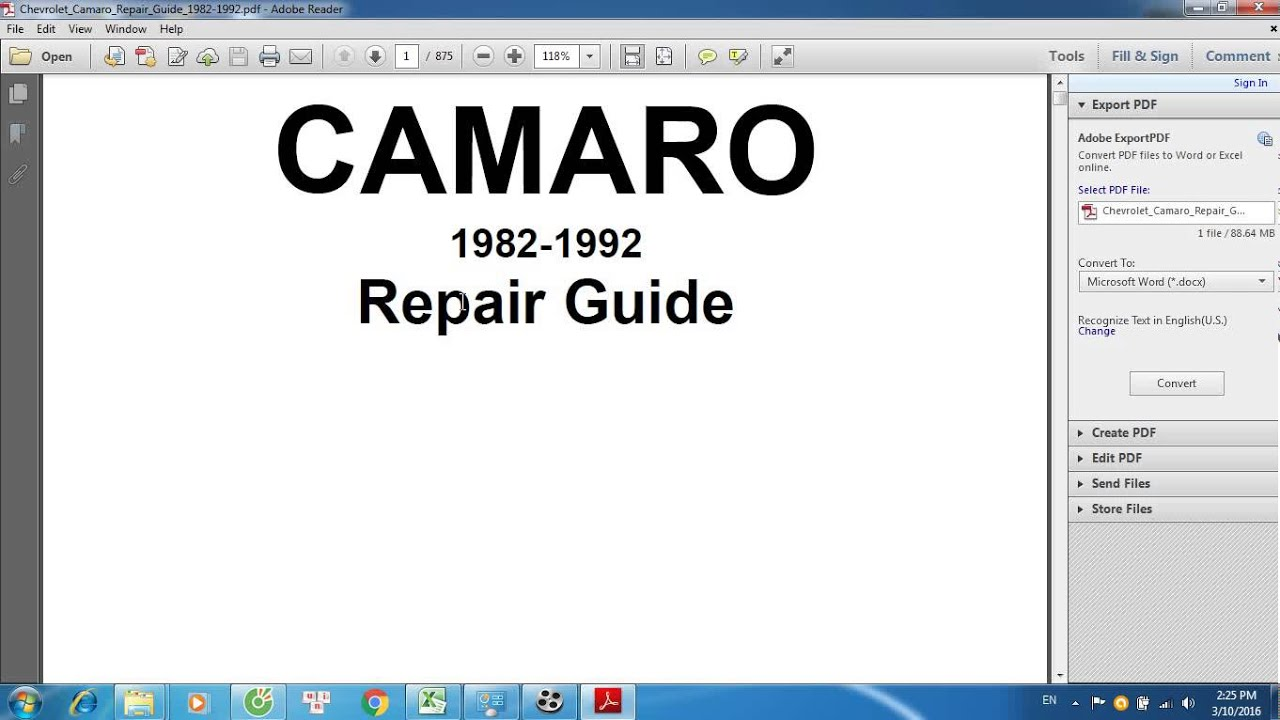 chevrolet camaro repair guide 1982 1992 youtube rh youtube com