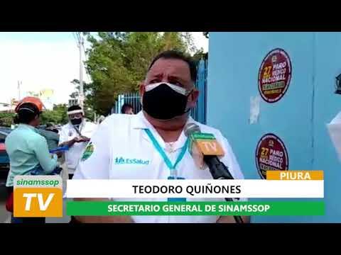 Entrevista al Secretario General de SINAMSSOP, Teodoro Quiñones desde Piura