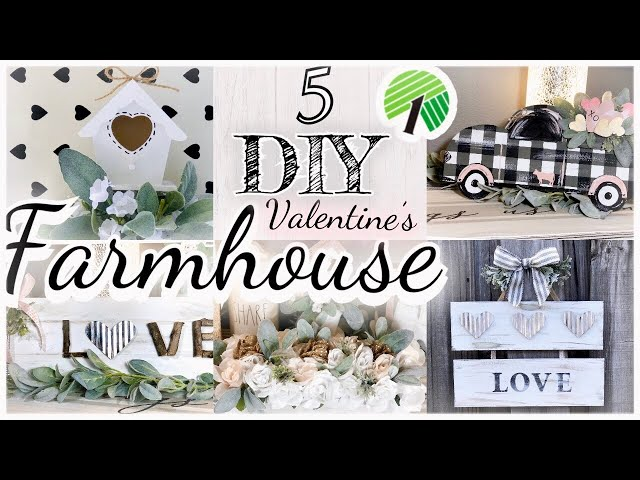 DIY DOLLAR TREE FARMHOUSE RUSTIC VALENTINES DECOR | Valentine diy decor | spring DIY 2020