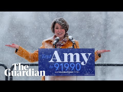Democratic senator Amy Klobuchar announces presidential bid