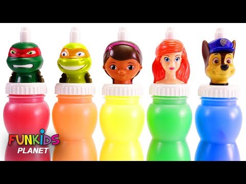 Best Learning Colors for Children Paw Patrol Slime Surprise Toys Minnie Mouse | Fun Kids Toys