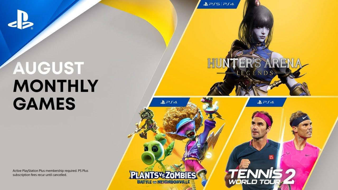 PS Plus August 2021 | Hunter's Arena: Legends, Plants vs. Zombies, Tennis World Tour 2 | PS5, PS4