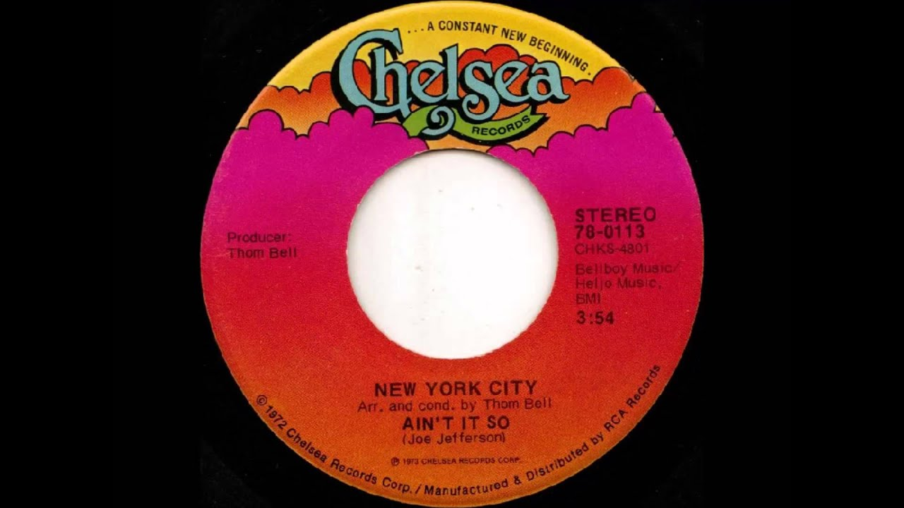 New York City I'm Doin' Fine Now - Ain't It So