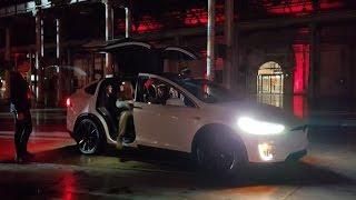 Hitting 100kph in the Tesla Model X is ludicrously fun