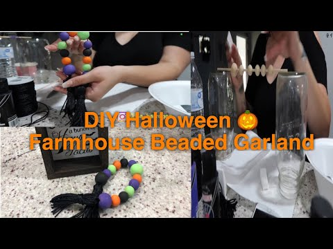 DIY Beaded Garland | Farmhouse Beaded Garland | Halloween