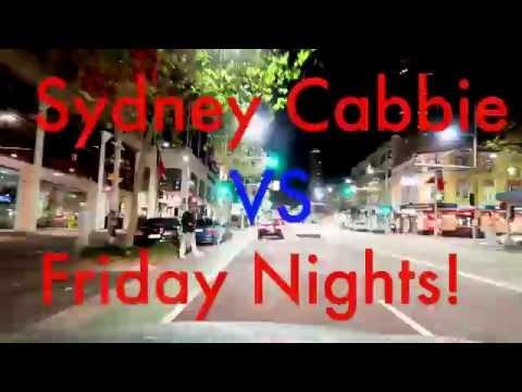 Friday Nights  Tearing up the Streets of Sydney  Sydney Cabbie  Vivid Light Show   Kings Cross 