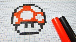 Como dibujar el HONGO de Mario Bros | Pixel Art